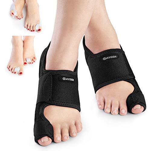 AVIDDA Bunion Corrector,Bunion Pain Relief Toe Separators Kit,Adjustable...