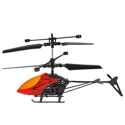 MaNMaNing Mini RC Helicóptero de Inducción Infrarroja Controles Remotos Avión Luz Intermitente Juguetes (Rojo)