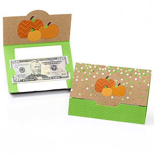 Big Dot of Happiness Pumpkin Patch - Fall, Halloween or Thanksgiving Party Money and Gift Card Holders - Set of 8