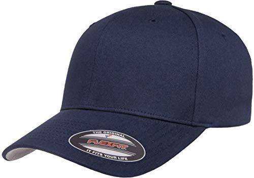 Flexfit Unisex-Erwachsene Cotton Twill Fitted Cap Mütze, Navy, L/XL