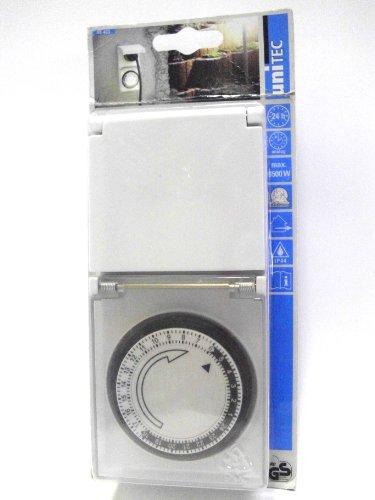 UNITEC 46403 Tageszeitschaltuhr, analog für Auߟenbereich, IP44