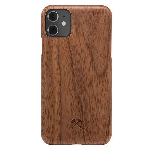 Woodcessories - Handyhülle kompatibel mit iPhone 11 Hülle Holz, iPhone XR Hülle Holz - EcoSlim Case (Walnuss)