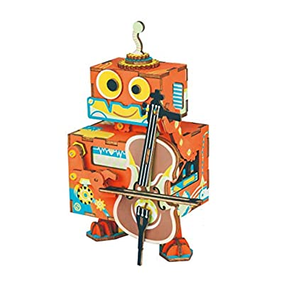 Rolife Music Box Self Assembly Moveable Robot T...