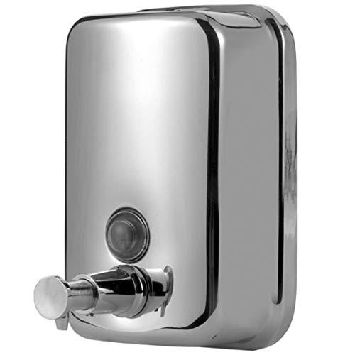 Aqualy - Dosificador jabón acero inoxidable cromado dispensador de pared para baño, cocina o ducha