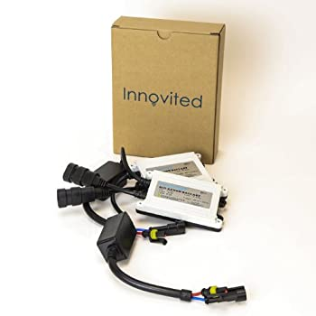 Innovited 2pcs 55W AC Slim Digital HID Xenon Replacement Ballast For H11 H7 H8 H9 H4 H1 H13 9005 9006 9007 Universal Fit