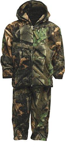 TrailCrest Infant - Toddler Camo Two Piece Fleece Jacket & Pants Set, 5T, Camo