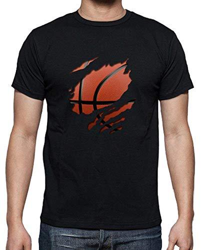 latostadora - Camiseta Basket para Hombre Negro L
