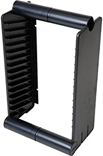 1A056BK Fischer Plastic 15 Unit DVD Rack/Stand Fischer Plastic Designed to Fit Into Audio Cabinets and Shelves or Can Be M...