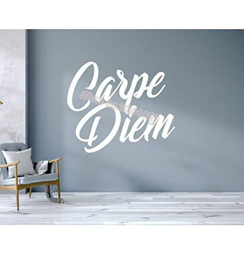 Zitate lateinische sprache Wandtattoo Inspirational Vinyl Schriftzug Motivation wohnzimmer Wandaufkleber wandbild 56x67 cm