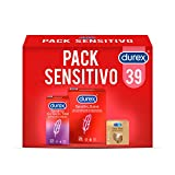 Durex Pack Preservativos Sensitivo Suave + Sensitivo Contacto Total + Real Feel Sin Latex - 39 condones