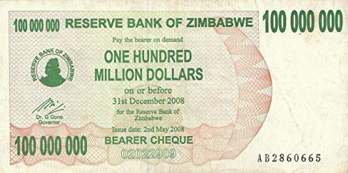 ZIMBABWE 5 Cents Bearer Cheque 2006 P-34 UNC Uncirculated