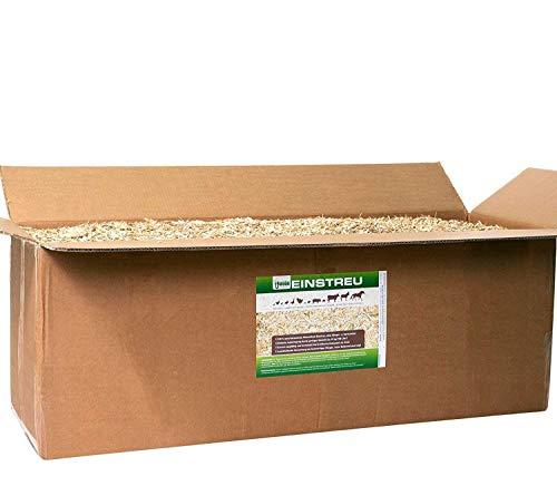 Jumbogras® Großtier- Pferdeeinstreu aus Miscanthus Elefantengras Chinagras-Häcksel, Streu statt Stroh, Holz, Säge-späne, Mehl, Pellets, für Box Stall Paddock Mist-frei (2 x 24 kg Vorratspack)