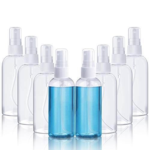Scopri offerta per 8 * 100ML Fenvella Flaconi Vuoti 100ml Trasparente Plastic Bottiglia a Spruzzo, Kit Viaggio Liquidi per Vacanze, Viaggi d'affari, Trucco, Pulizie, 8 Pezzi (100 ML)