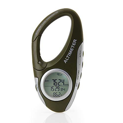 AMTAST Barometer Höhenmesser Thermometer Wettervorhersage Monitor zum Klettern Camping Outdoor Sport, Multifunktion mit Hintergrundbeleuchtung
