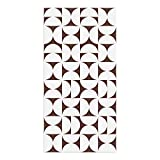 Alfombra Vinílica, Geometría, Marrón, 80 x 40 cm, Varios Tamaños y Colores, PVC Estampado, ALV-080-MA