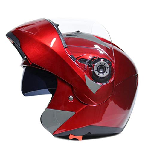 OLEEKA Full Face Flip Up Motorradhelm Racing mit 29 Farben