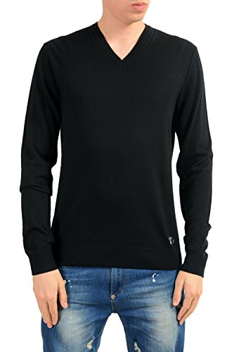 Versace Collection Men's Black Wool Cashmere Light Sweater Size US XL IT 54