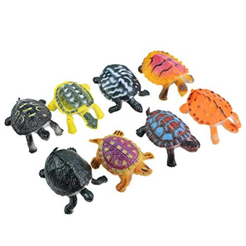 TOYANDONA 8 stücke Realistische Schildkröte Lebensechte Ozean Tier Kleine Schildkröte Figuren Pädagogisches Spielzeug für Kinder Kinder