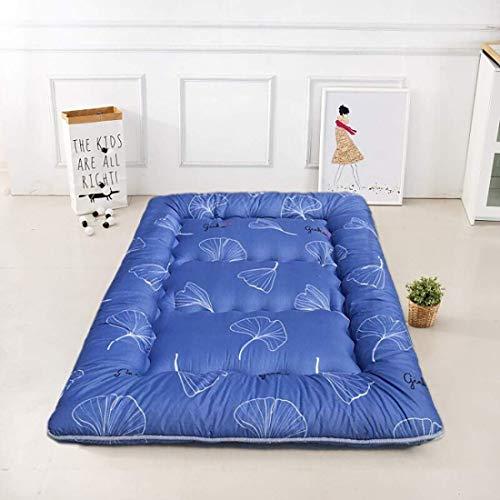 FF Opvouwbare matras voor Japanse opvouwbare vloer, matras voor draagbare verdikte matras Zachte Matatatami voor het verlichten van rugpijn matras voor studentenslaapzaal, A, 100x200 cm