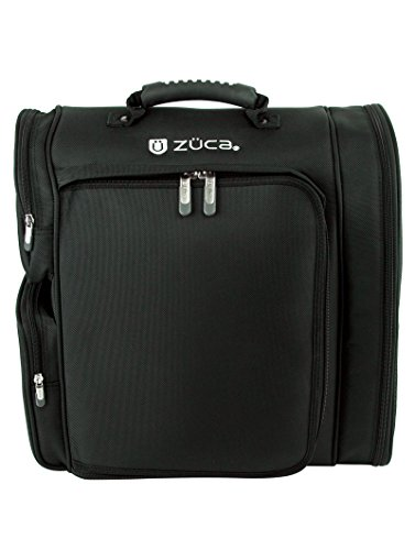 Zuca Artist Backpack With Two Vinyl-Lined Utility Pouches, Black