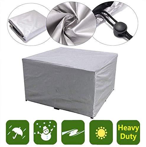 ZJZ Jardín Muebles Cubiertas Protección Patio Muebles Conjunto, Impermeable Mesa Exterior Silla Protector UResistant Weather 231x231x30cm / 91x91x12inch