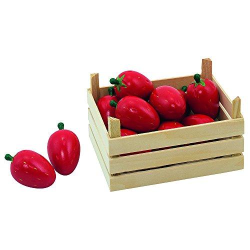 Goki 51668 - Kaufläden und Zubehör - Erdbeeren, Obstkiste
