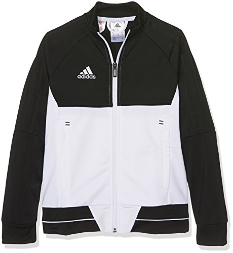 adidas Jungen Tiro 17 Polyester Trainingsjacke, schwarz/White, 164