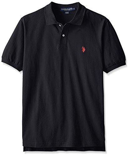 US Polo Assn. Polo da uomo classica, nero, S