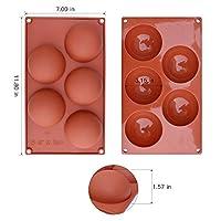 homEdge Stampo in silicone extra large a 5 cavità semi-sfera, stampo da 3 confezioni per fare cioccolato, torta, gelatina, mousse a cupola #6