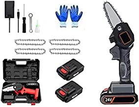 88 V 1080 W 4 Polegada mini serra elétrica com 2 bateria recarpintaria poda de uma mão jardim ferramenta de alimentación de registro