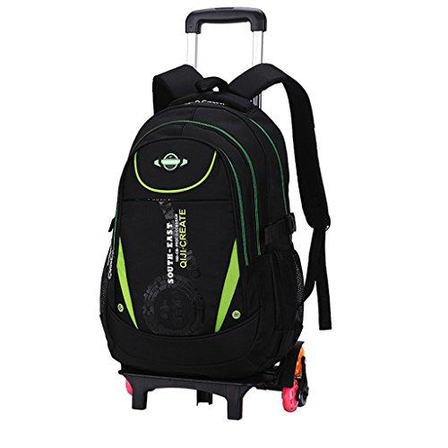 Schultasche Trolley, Trolley Schultaschen Rucksack Rolling Rucksäcke Kinder Schultasche mit sechs Rädern Klettern Treppen