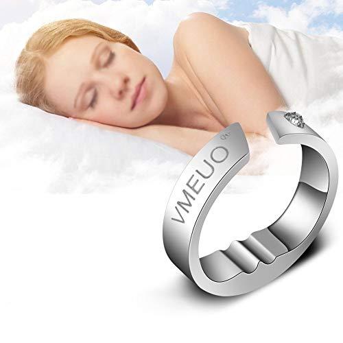 5 Größen Anti-Schnarch Armband, Stahlakupressur Natürliche Therapie gegen Schnarchstopper, Schlafatmung Akupressurmassage Behandlung, Sofortige Verbesserung der Atemwegsentlastung(S)