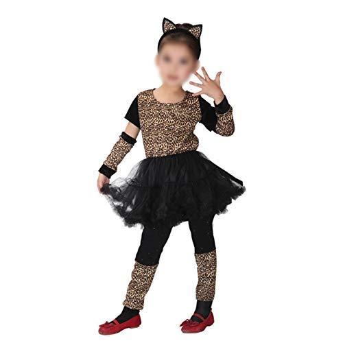 El traje Umorden chicas Wild Animal pequeo leopardo cortos del vestido del tut for las muchachas de los nios de partido del carnaval Disfraz ( Color : G 0047 , Size : XL(height 120 130cm) )