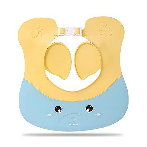 Terynbat Duschhaube Kinder - Verstellbarer Shampoo-Schutz Weiche wasserdichte Kappe Für Kinder Von 1-12 Jahren