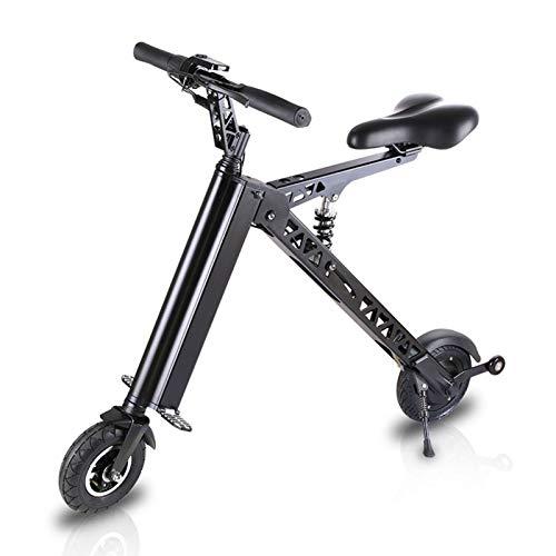 LINGZE Bicicleta Eléctrica Plegable, Batería 36V 7.2Ah, Velocidad Máxima 20km / h Kilometraje10millas con Doble Sistema de Frenado Motor 350W, Negro