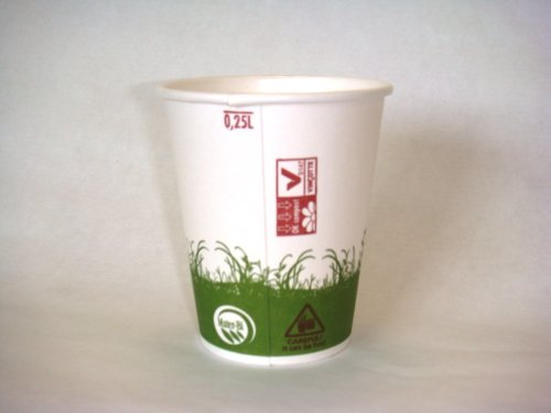 Gobelet biodégradable jetable décor bio 24 cl par 40