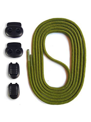 SNORS Schnürsystem - KHAKI, 120cm - elastische Schnürsenkel mit Schnellverschluß -