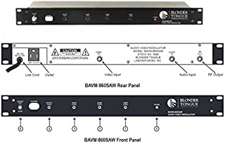Blonder Tongue BAVM-860-SAW CH2 Channelized Audio/Video Modulator Saw Filtered-by-Blonder Tongue