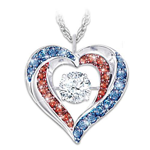 Colgante de corazón de diamante, color corazón valiente