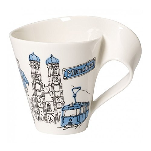 Villeroy & Boch Cities of the World Kaffeebecher München, 300 ml, Premium Porzellan, blau