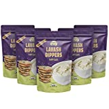 Lavash Dippers - Made from Healthy Baked Lavash Flatbread – Uniquely Flavorful Alternative to Pita Chips – Perfect Snack Chip for Snacks, Salads, Soups or Dipping – Poppy Seed – 6oz (Pack of 5)