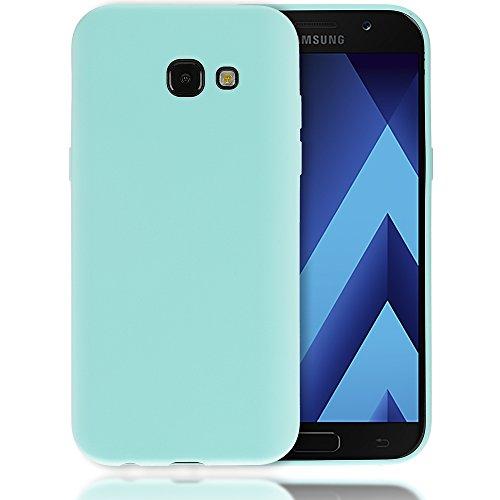 NALIA Custodia compatibile con Samsung Galaxy A3 2017, Cover Protezione Ultra-Slim Case Protettiva Morbido Cellulare Silicone Gel, Gomma Jelly Telefono Smartphone Bumper Sottile, Colore:Turchese