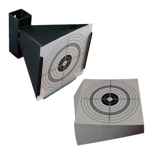 Trichterkugelfang / Kugelfang für Luftgewehr, Luftpistole und Softair - shoot-club24 SET mit 10 Zielscheiben 14x14cm