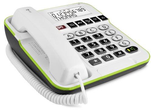 Doro Secure 350 Schnurgebundenes Großtastentelefon mit Notruf-Alarmgeber weiß