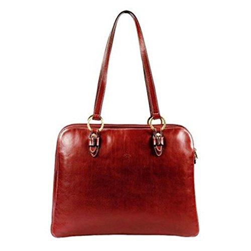 Katana Katana Einkaufstasche aus Rindsleder K 32596, Rot - rot - Größe: Einheitsgröße
