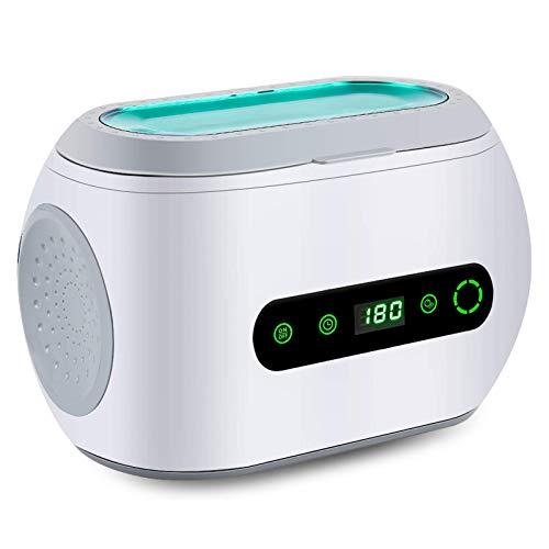 Anbull Pulitore ad Ultrasuoni 600ml, Lavatrice ad Ultrasuoni Professionale 42000 Hz, 8 Livelli Timing per occhiali, orologi, gioielli, protesi dentali