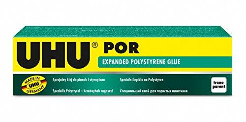 UHU 3-63176 por, Adhesivo especial de ajuste rápido para poliestireno, tubo de 50 ml, 50 ml