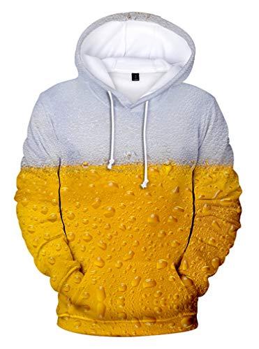 AMOMA Herren Damen Munich Oktoberfest Hoodie Unisex Freizeit Bier 3D Digitaldruck Kapuzenpullover(XL,Color14)