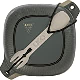 UCO 4-Piece Camping Mess Kit with Bowl, Plate and 3-in-1 Spork Utensil Set, Venture