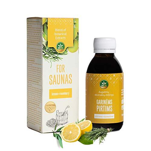 Bio Saunaaufguss mit Zitrone, Rosmarin - naturrein Sauna Aufguss - ätherische Saunaöl - natürlicher Saunaduft - Premium Saunakonzentrat - Qualität Aufgussmittel